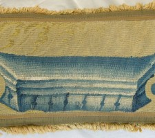 888P     A  16TH  CENTURY  FLEMISH  TAPESTRY  PILLOW  23 X 12