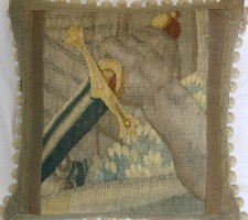 983P    A  17TH  CENTURY  BRUSSELS  TAPESTRY  PILLOW  17 X 17